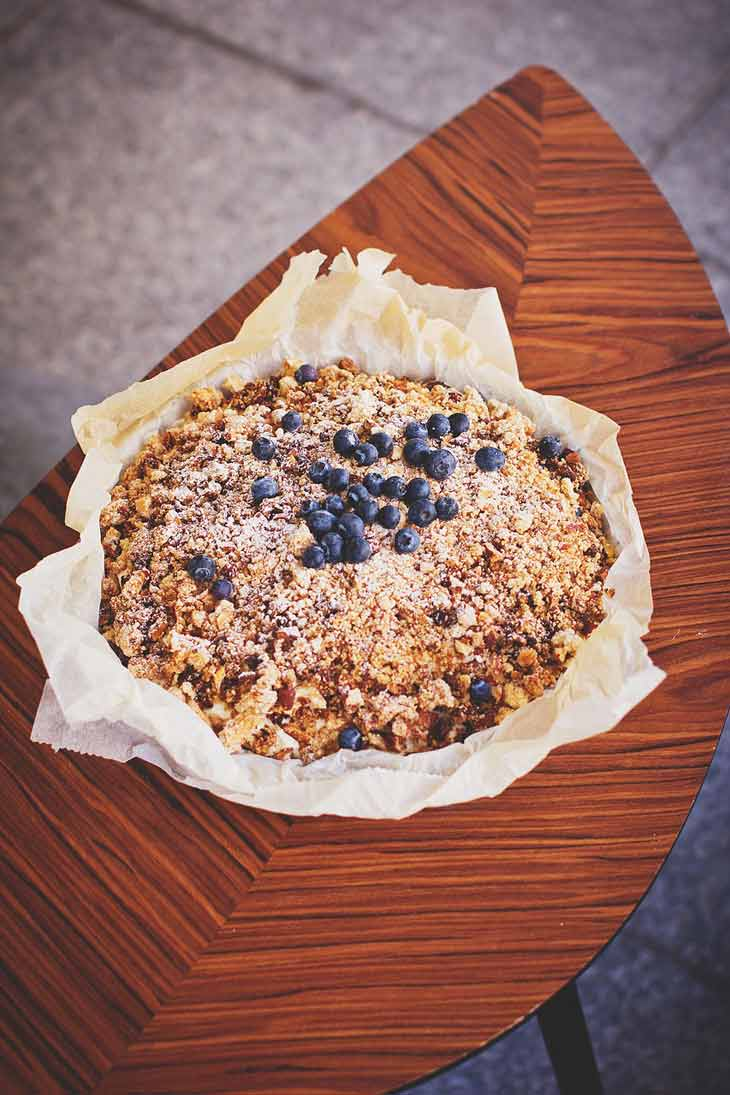 Blueberry Crumble Pie Dessert